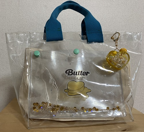 Butterクリアバッグ